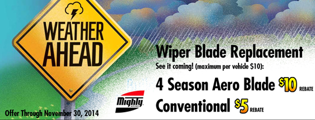 Wiper Blade Replacement $8.95