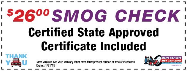 $26 Smog Check
