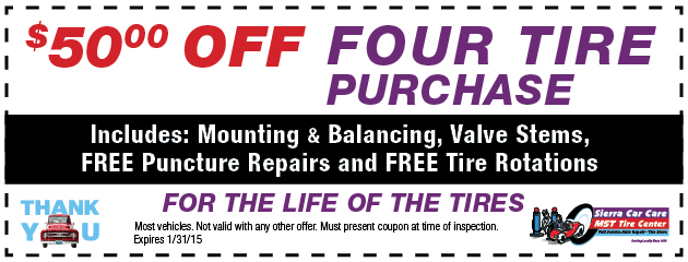 $50 Off 4 Tire Purchase