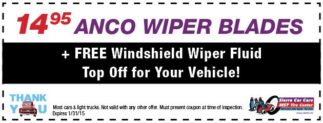 $14.95 Anco Wiper Blades
