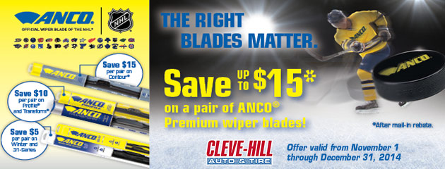 Save Up To $15 On A Pair Of Anco Premium Wiper Blades