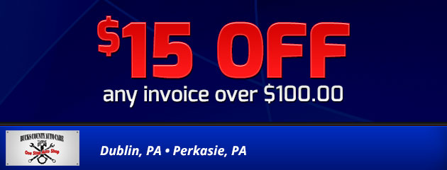 $15.00 off any invoice over $100.00