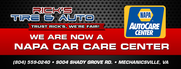 We are now a napa car care center