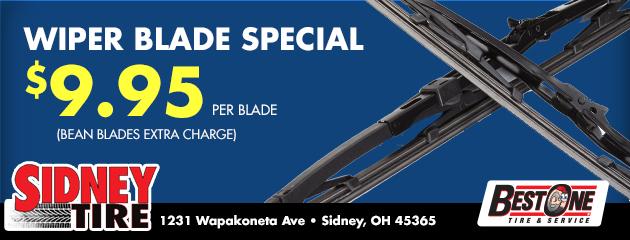 $9.95 per blade Wiper Blade Special