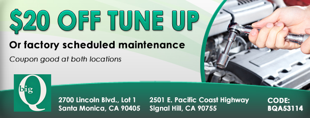$20 Off Tune Up Or Factory Scheduled Maintenance
