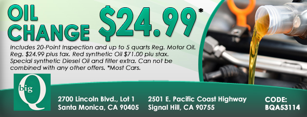 $24.99 Oil Change