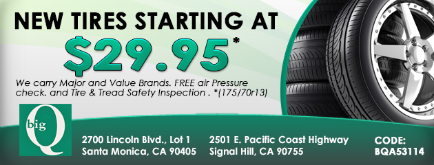 New Tires Staring At $29.95
