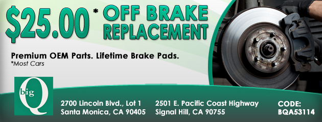 $25.00 Off Brake Replacement