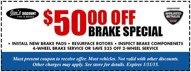 $50 OFF Brake Special