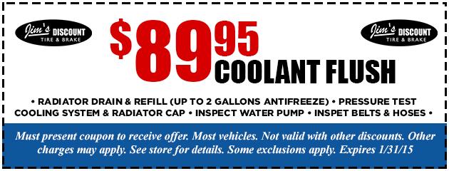 $89.95 Coolant Flush