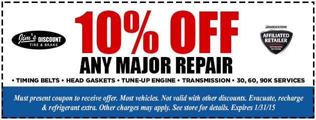 10% Off Any Major Repair