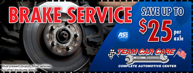 Save Up To $25 Per Axle Brake Service