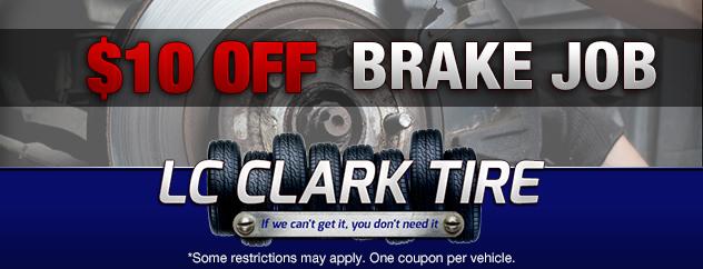 $10 Off Brake Job
