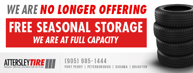 We Are No Longer Offering Free Seasonal Storage