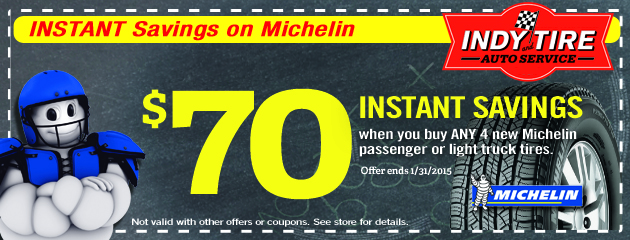 $70 Instantly Off on Michelin Tires
