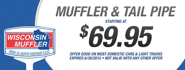 Muffler & Tailpipe starting at $69.95