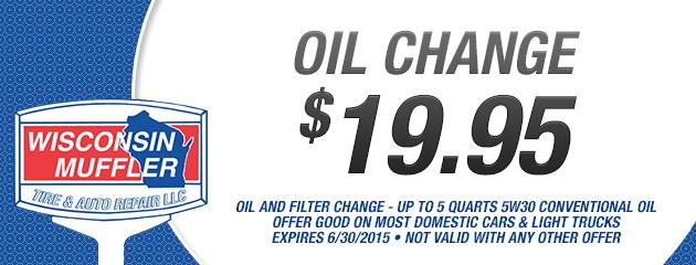 $19.95 Oil Change & Filter