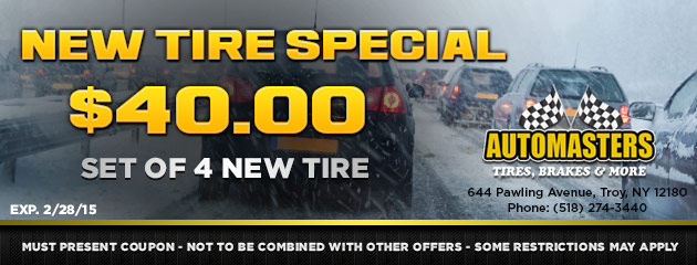New Tire Special - $40 off set of 4 new tires