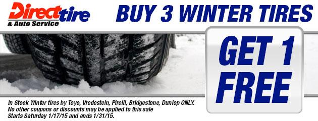 Buy 3 Winter Tires, Get 1 FREE