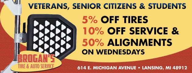 Veterans, Senior Citizens, and Students Specials