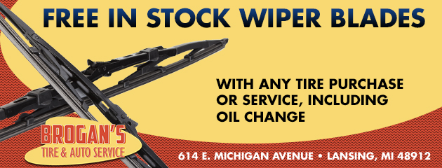 Free In Stock Wiper Blades with any Tire Purchase or Service