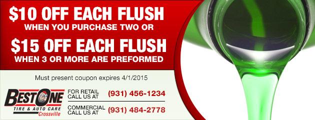Save on a fluid flush