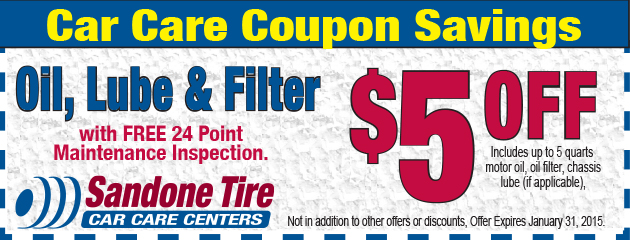 $5 OFF Oil, Lube & Filter