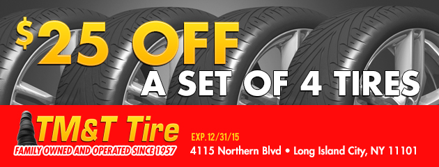 $25 Off on a set of 4 Tires