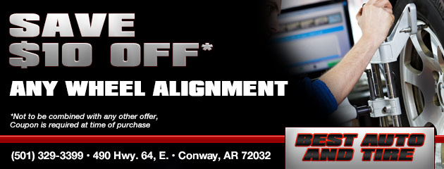 Save $10 off Any Wheel Alignment.