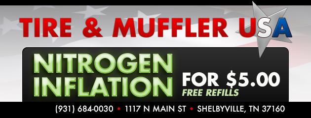 NITROGEN INFLATION FOR $5.00 + FREE REFILLS