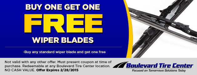 Buy 1 Get 1 Free Wiper Blades