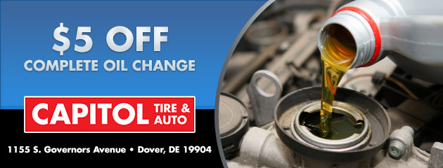 $5 off a complete oil change