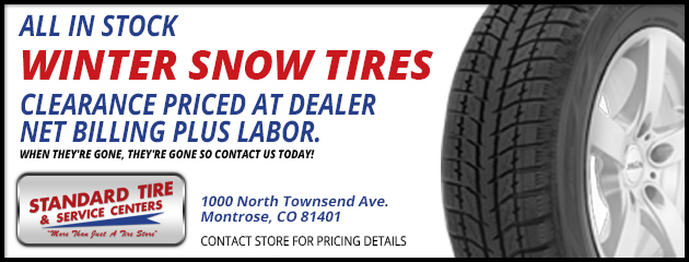 All in Stock Winter Snow Tires Clearance Priced at Dealer Net Billing Plus Labor