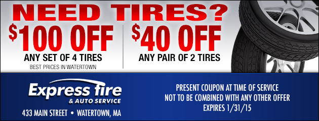 $100 Or $40 Off Tires
