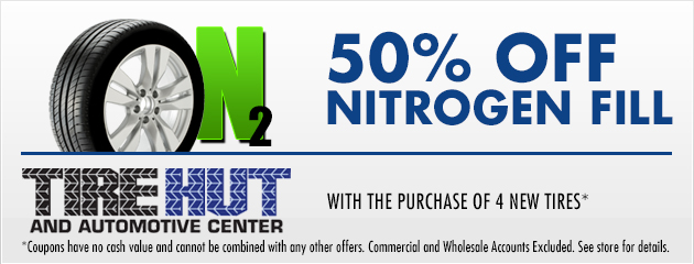 50% off Nitrogen Fill with the Purchase of 4 New Tires