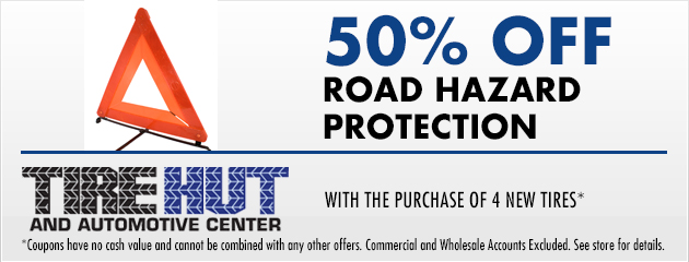 50% off Road Hazard Protection