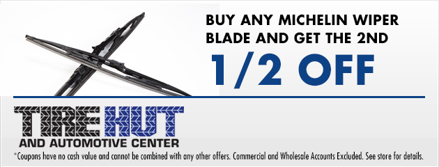 Buy any Michelin Wiper blade and get the 2nd 1/2 off