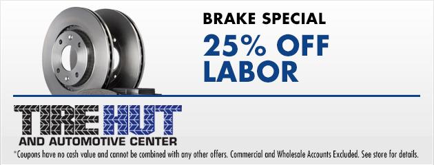 brake special - 25% Off Labor