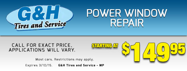 Power Window Repair Starting At $149.95