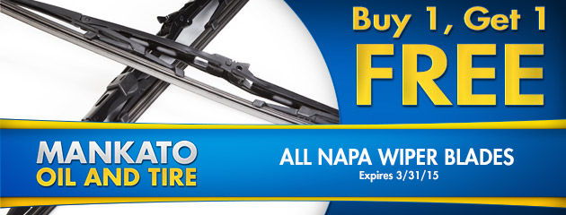 All Napa Wiper Blades  Buy one, get one free