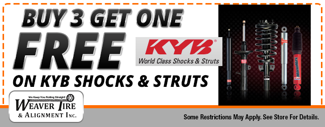 Buy 3 Get 1 FREE KYB Shocks