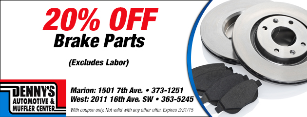 20% Off Brake Parts