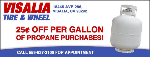 25cents off per gallon of propane