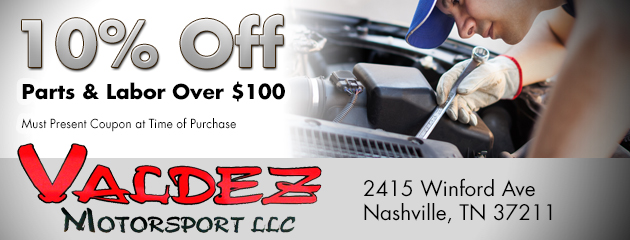 10% Off Parts & Labor Over $100