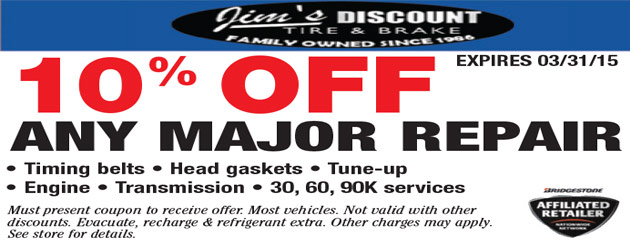10% Off Any Major Repair