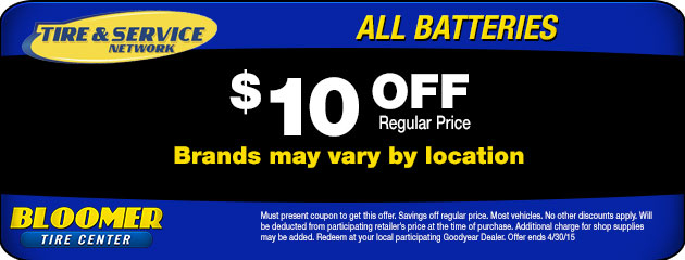$10 Off Batteries