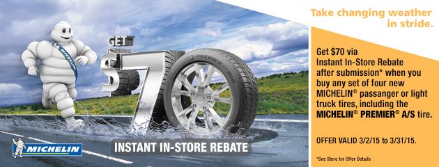 Michelin In Store Rebate