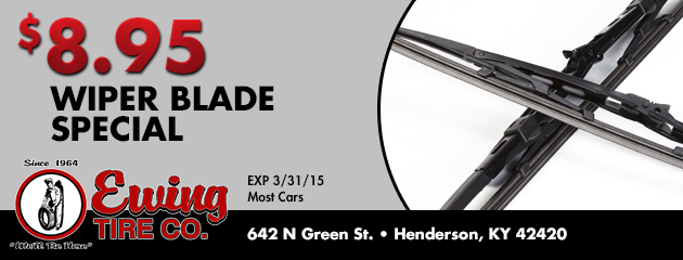 $8.95 Wiper Blade Special