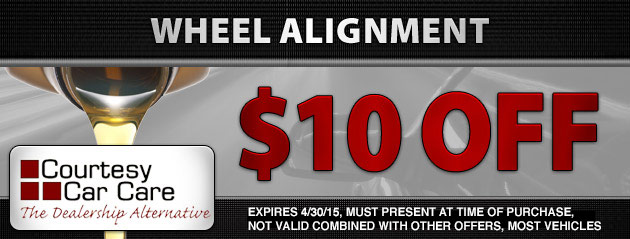 $10 Off 4 Wheel Alignment