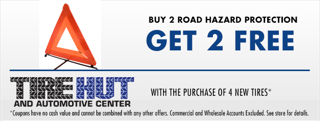 Buy 2 Road Hazard Protection and get 2 Free